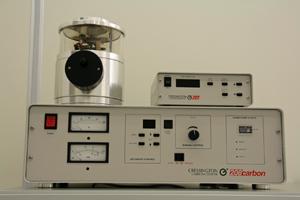 Picture of Carbon Coater for SEM Sample Prep.